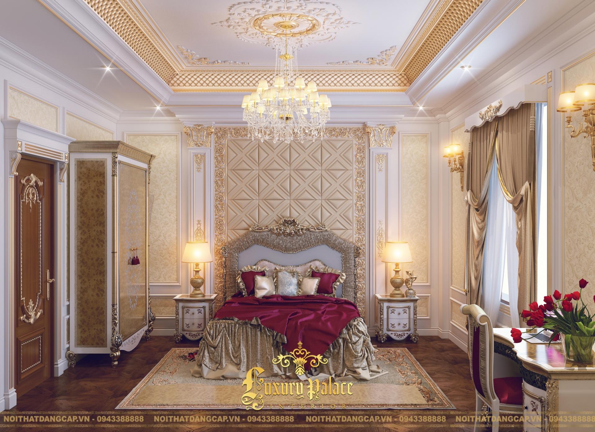 Mẫu thiết kế phòng ngủ phong cách tân cổ điển châu Âu 1