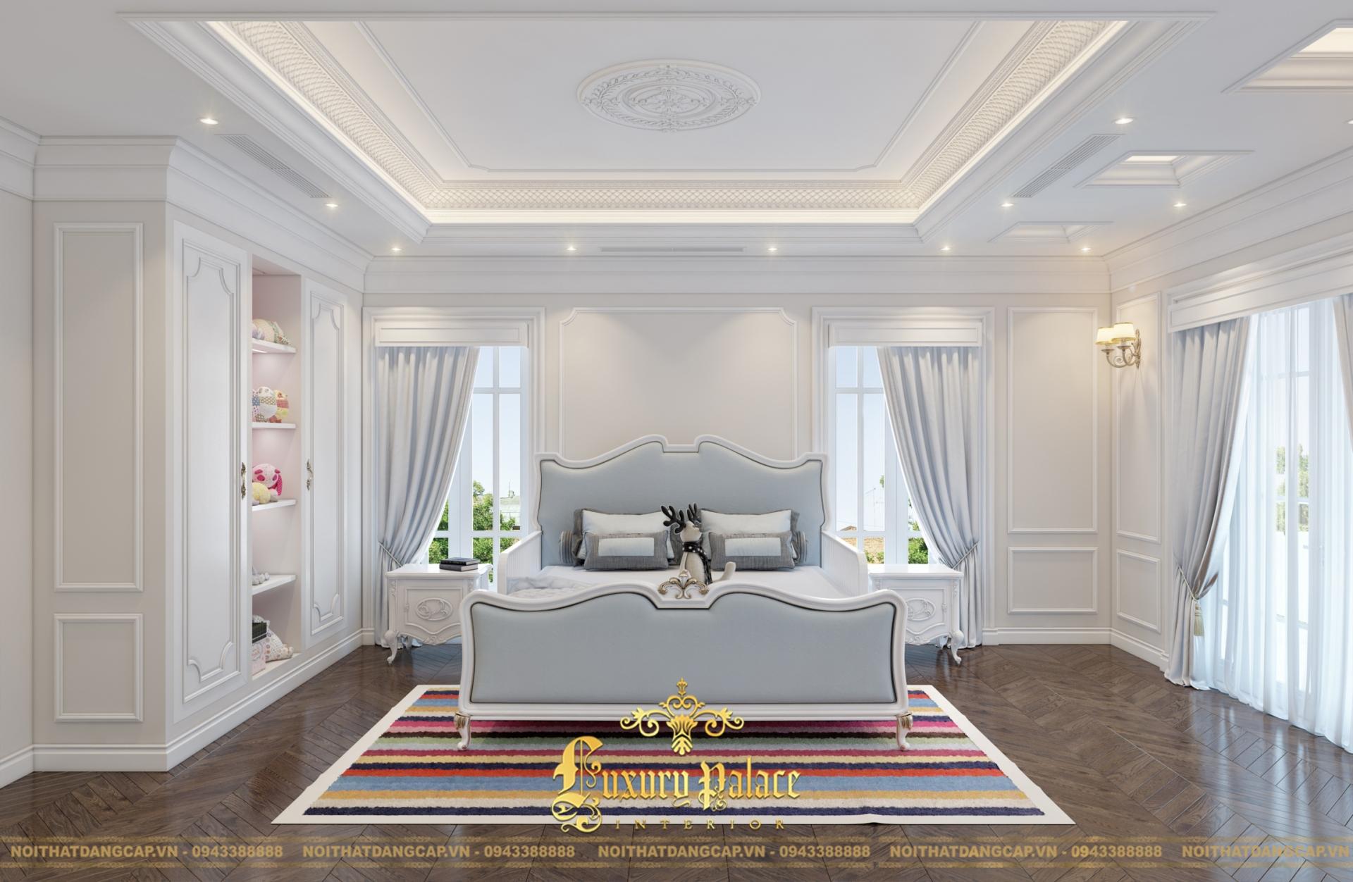 Mẫu thiết kế phòng ngủ phong cách tân cổ điển châu Âu 2