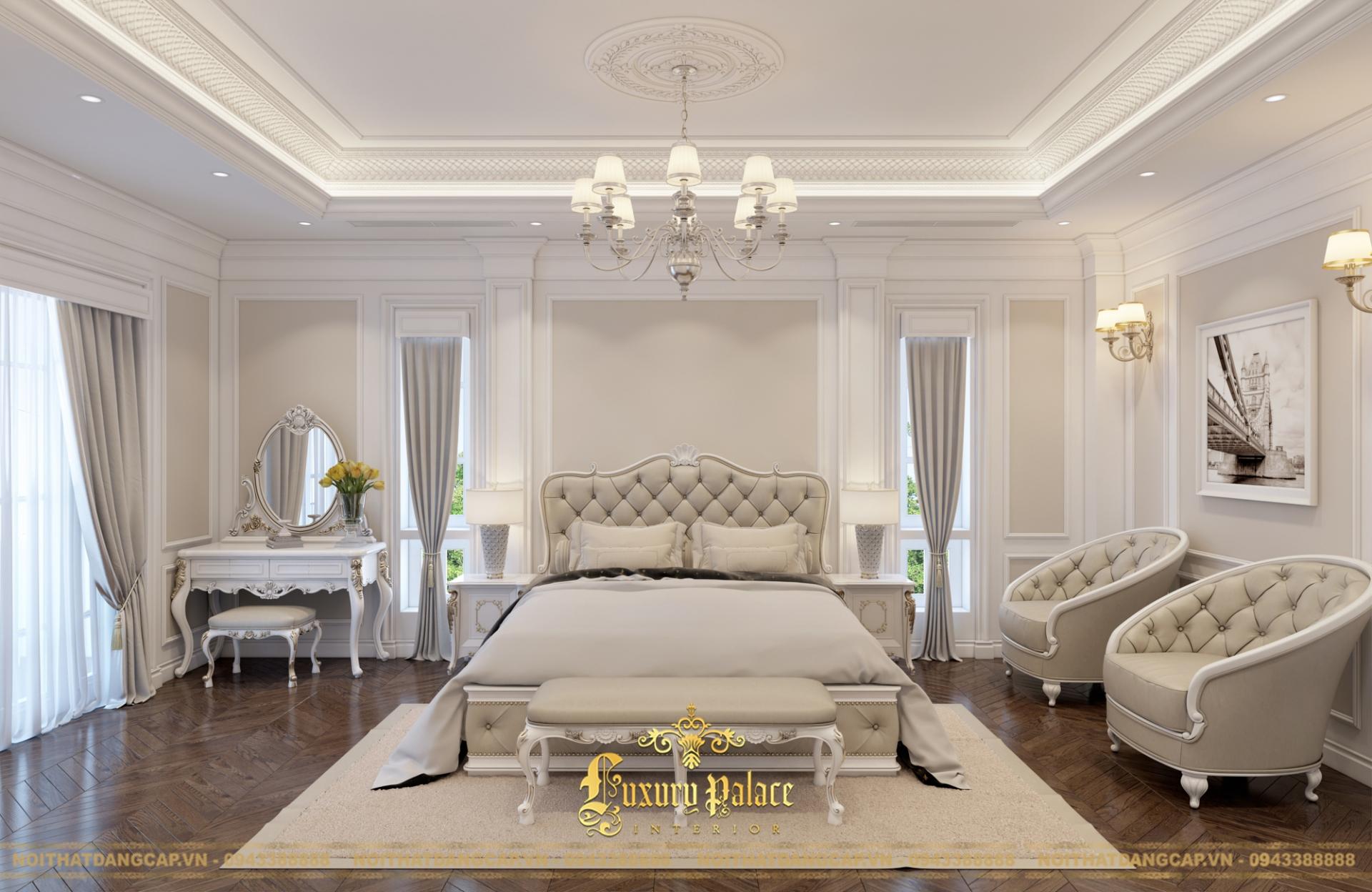 Mẫu thiết kế phòng ngủ phong cách tân cổ điển châu Âu 3