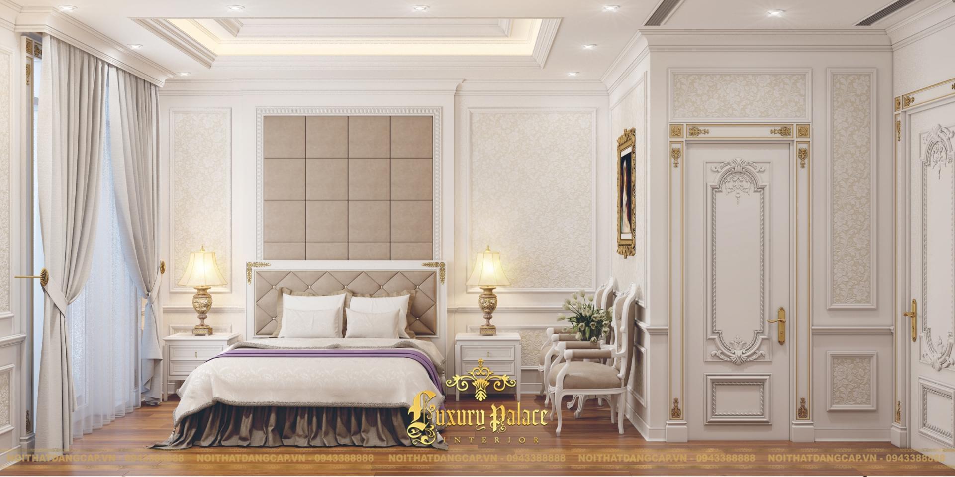 Mẫu thiết kế phòng ngủ phong cách tân cổ điển châu Âu 4