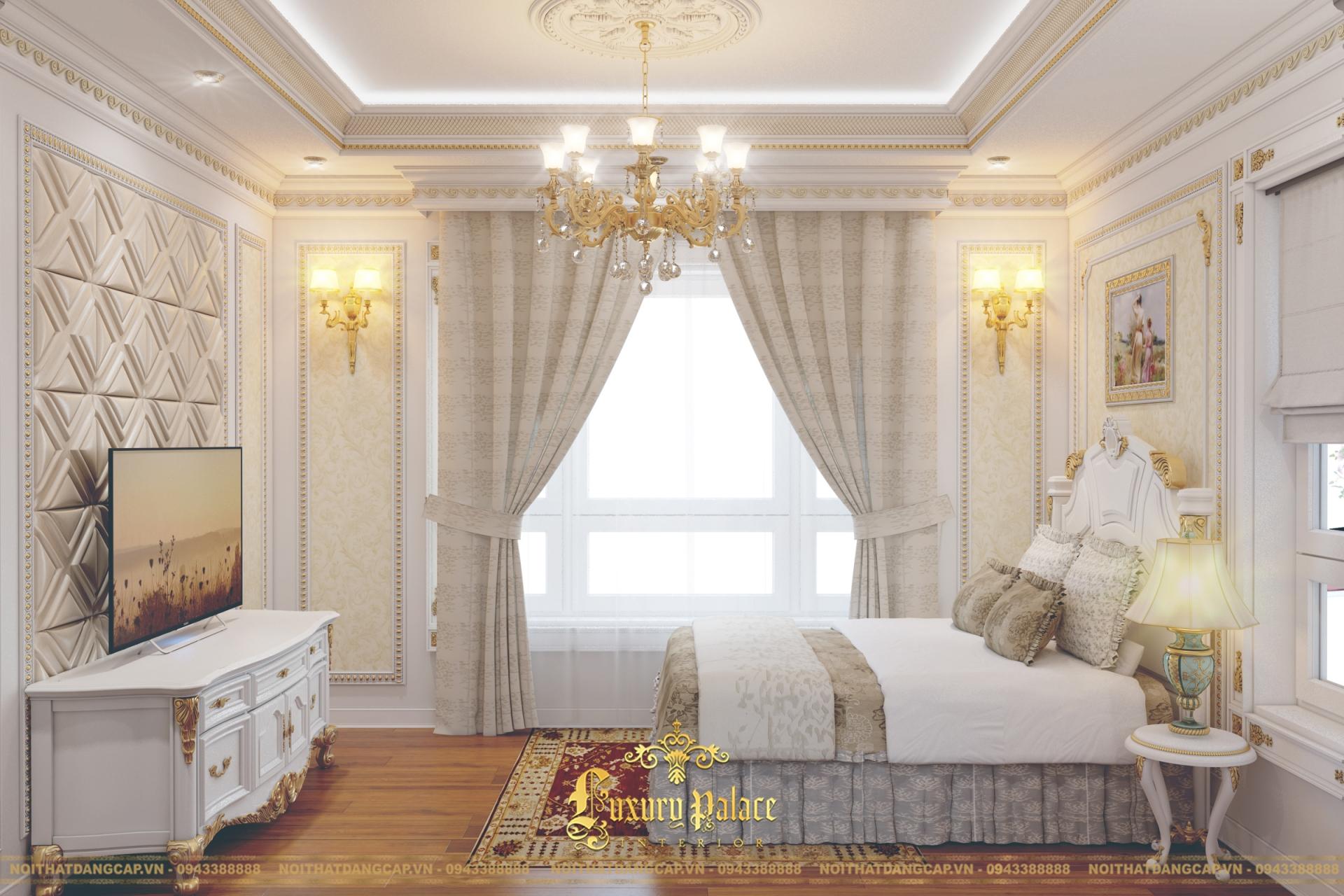 Mẫu thiết kế phòng ngủ phong cách tân cổ điển châu Âu 5