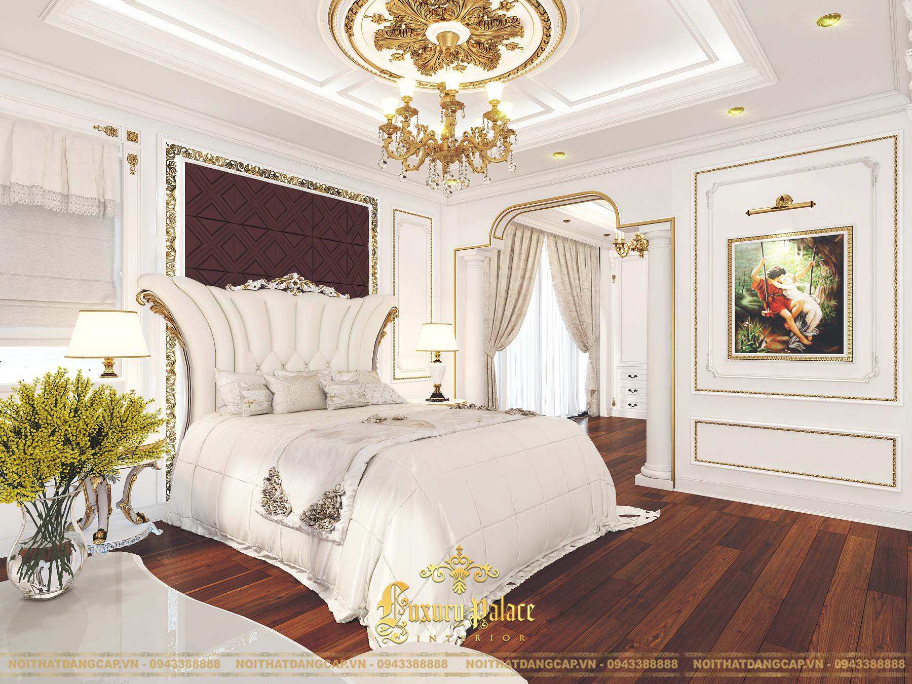 Mẫu thiết kế phòng ngủ phong cách tân cổ điển châu Âu 7