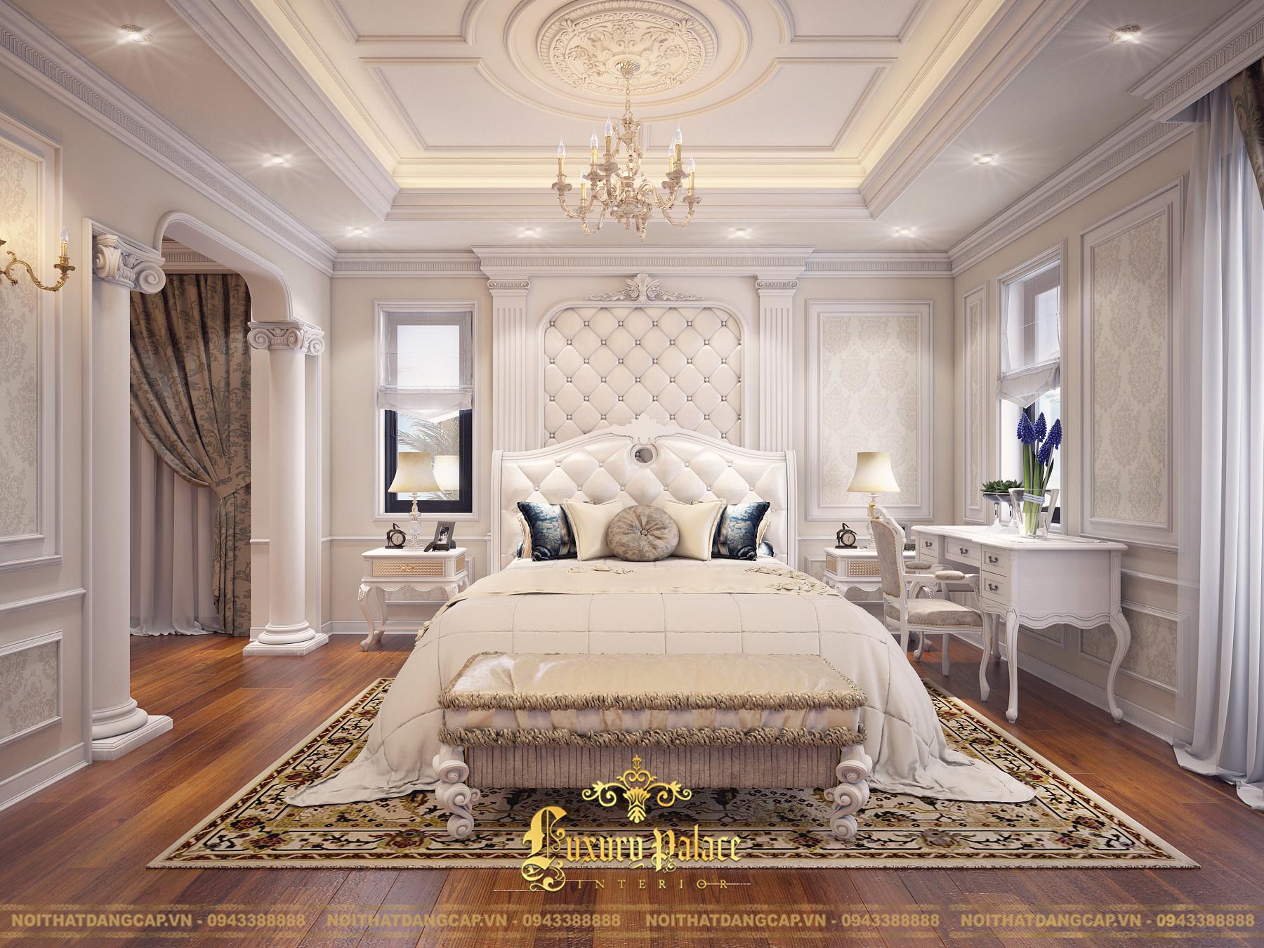Mẫu thiết kế phòng ngủ phong cách tân cổ điển châu Âu 8