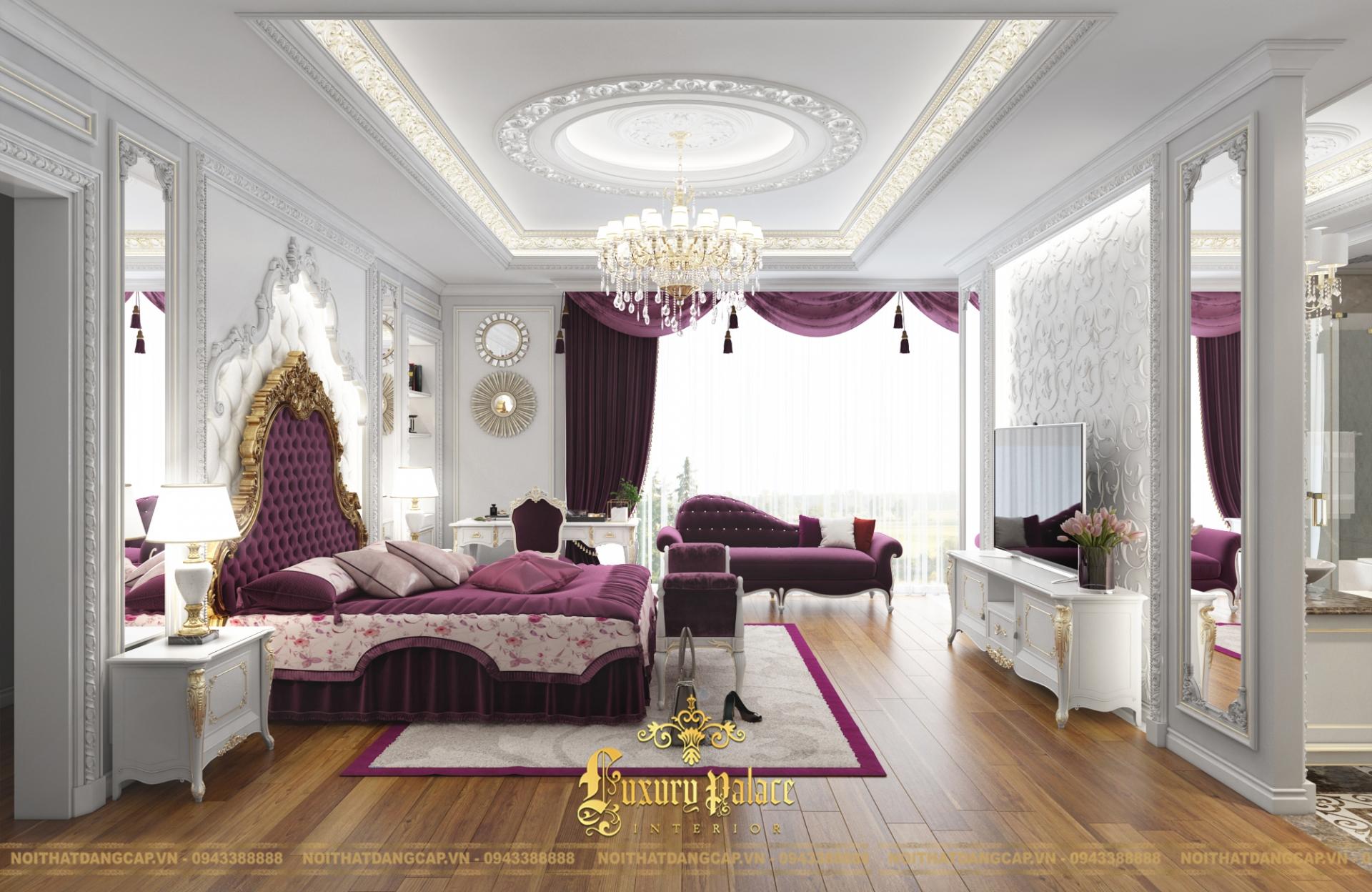 Mẫu thiết kế phòng ngủ phong cách tân cổ điển châu Âu 12
