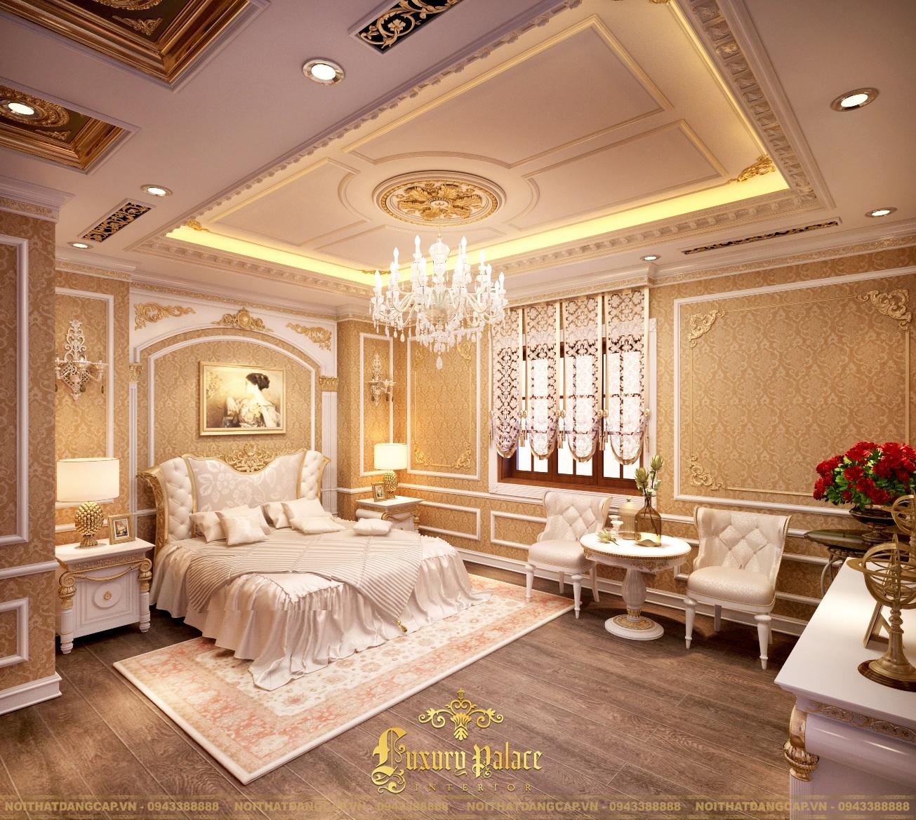 Mẫu thiết kế phòng ngủ phong cách tân cổ điển châu Âu 16