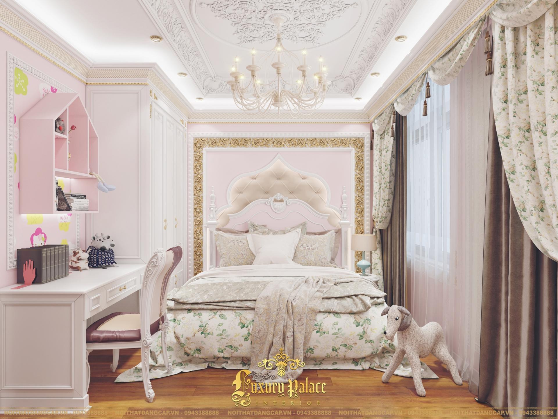 Mẫu thiết kế phòng ngủ phong cách tân cổ điển châu Âu 23