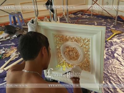 Thi công nội thất dát vàng công trình vườn đào